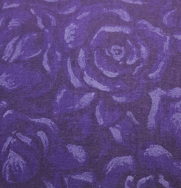 Dark Purple with Lighter Purple Roses