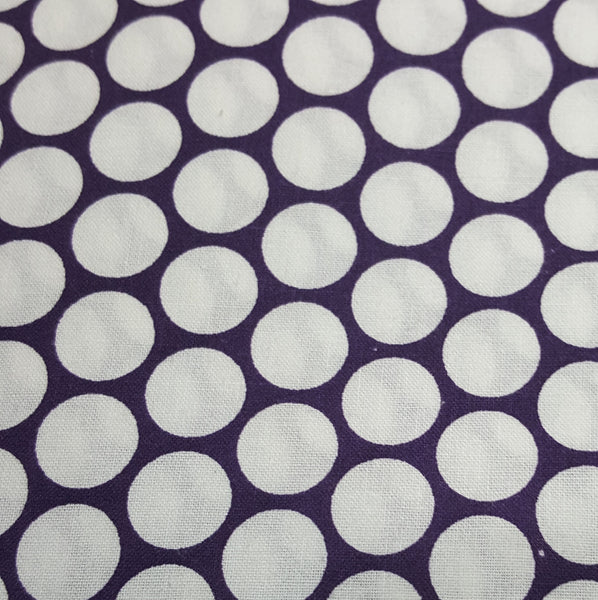 Purple with Large White Dot Grid