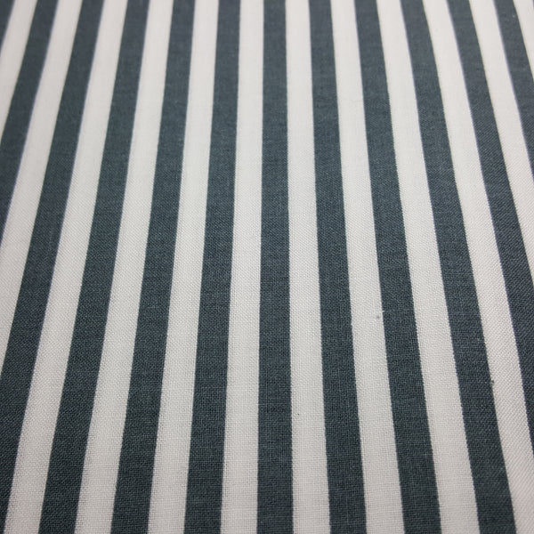"Grey and 1/4"" White Stripes"