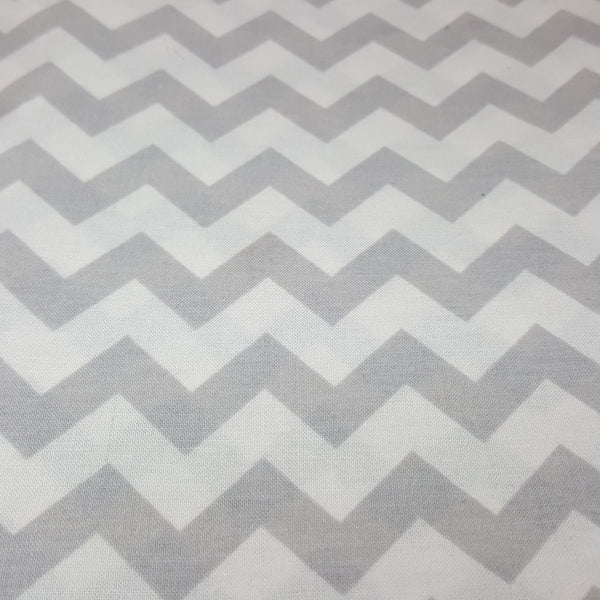 "Gray and White 1/2"" Chevron"