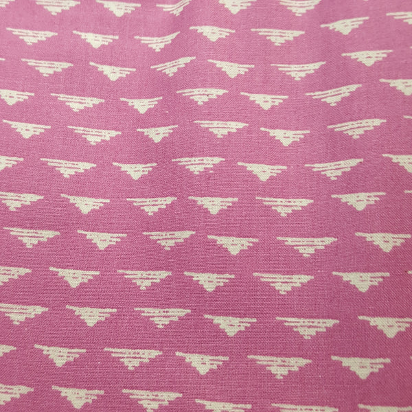 Pink with Small White Triangle
