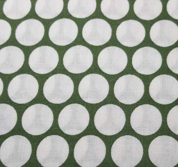 Green with Large White Dot Grid