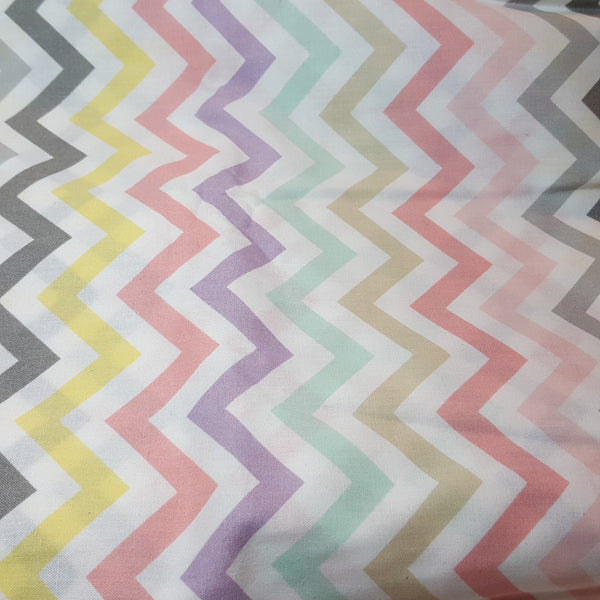 Chevrons in multiple pastel colors