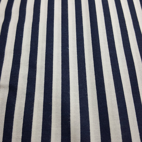 "Navy and 1/4"" White Stripes"
