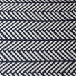 Navy Blue with White Zig Zag lines