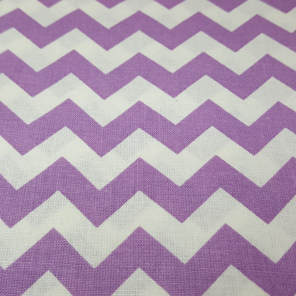 "Lavendar and White 1/2"" Chevron"
