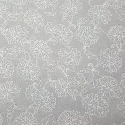 Gray with White Large Floral
