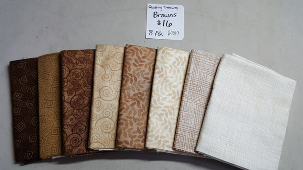 Harmony ~ Browns Fat Quarter Set