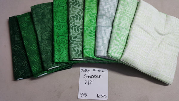 Harmony ~ Greens Fat Quarter Set