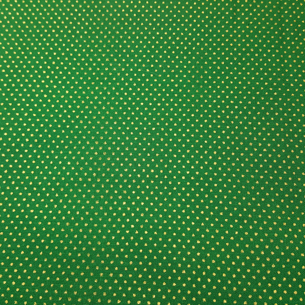 Green with Gold Pindots