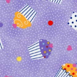 Comfy Flannel Prints ~ Cupcakes