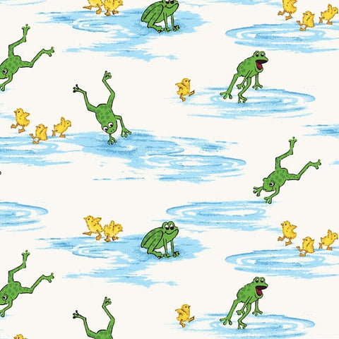 Puddle Jumpers Frogs and Ducks ~ Quarter Yard