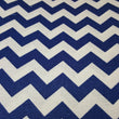 "Blue and White 1/2"" Chevron"