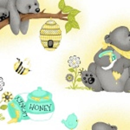 Comfy Flannel Prints ~ Bear and Honey