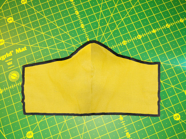Face Mask - Medium Yellow [Fitted/Ties]