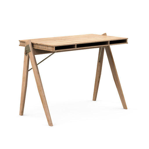 desk in standing uprise mgt bamboo built managment cable