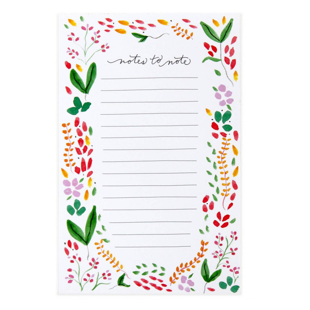 Botanical Notes Notepad