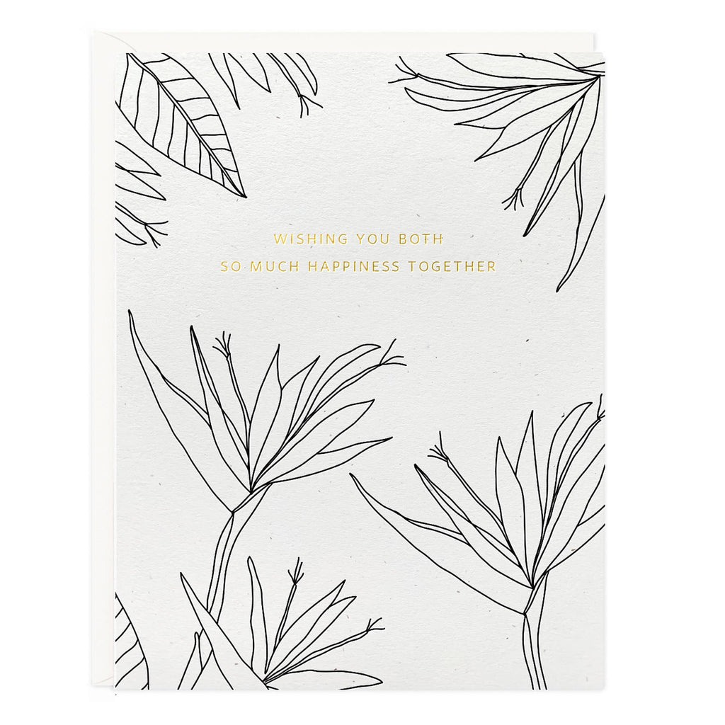 Happiness Wedding Botanical Card