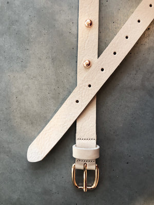 Nubuck Studded Belt