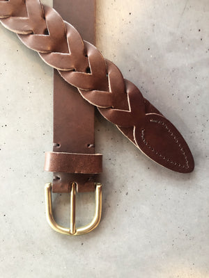 Handwoven Leather Belt