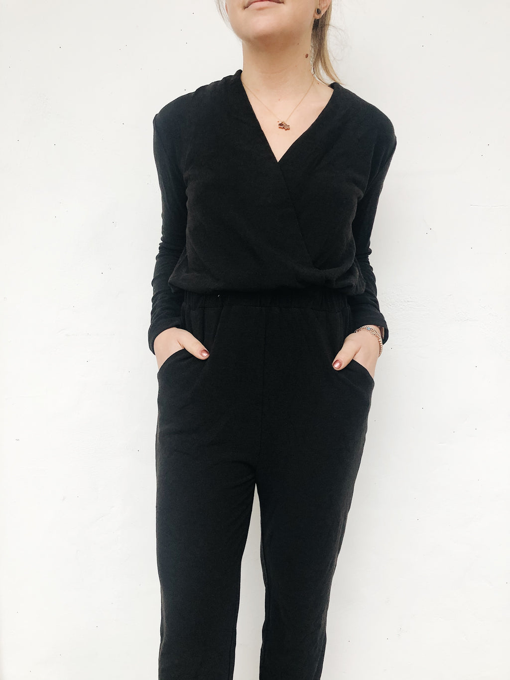 Drape Knit Jumpsuit