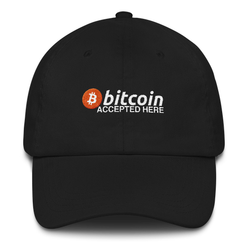 Bitcoin Accepted Here Dad Hat