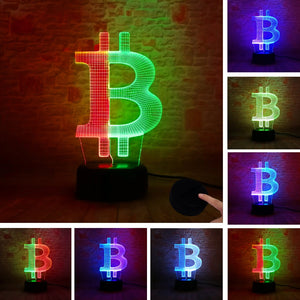 3D Bitcoin LED Neon Light