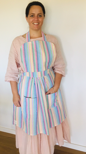 Custom Order Halter Neck, Pleated Aprons