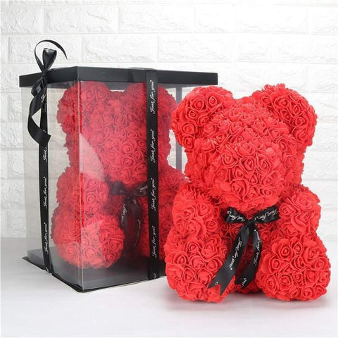 Teddy Bear Roses with Gift Box