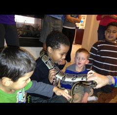 Jeremiah with Ball Python