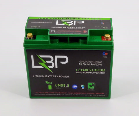 12V 20Ah HIGH PERFORMANCE Lithium Battery - Lithium Battery Power, LLC