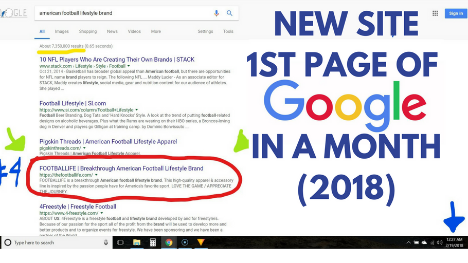 How to Rank A New Site on 1st Page of Google Fast (2018)