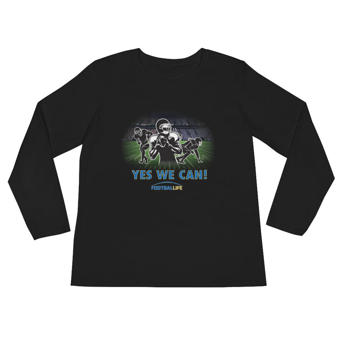 Yes! Ladies' Long Sleeve T-Shirt