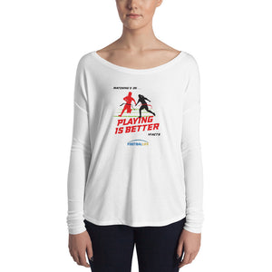 Playing Ladies' Long Sleeve Relaxed Tee