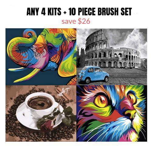 [DIY Paint by Numbers Kits for Adults] - Paint by Number Labs