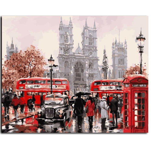 london street adult diy paint by numbers kit