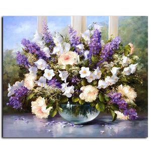 modern flower bouquet adult diy paint by numbers kit