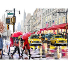 rainy day in new york adult diy paint by numbers kit