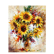sunflowers in a vase adult diy paint by numbers kit