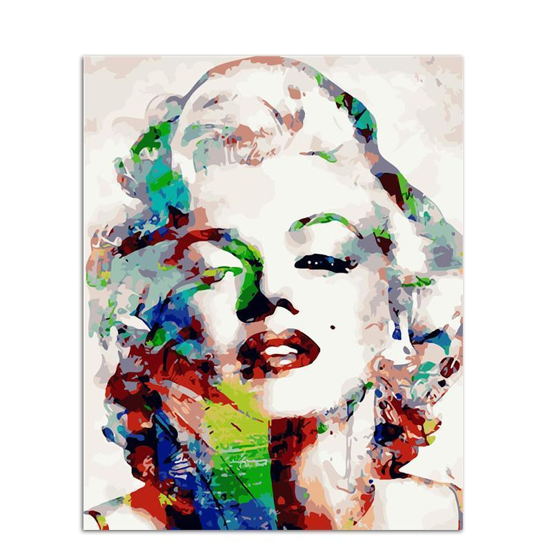 abstract marilyn monroe adult diy paint by numbers kit