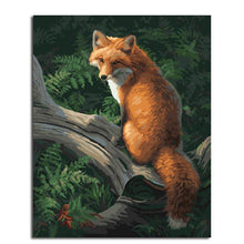 watchful fox adult diy paint by numbers kit