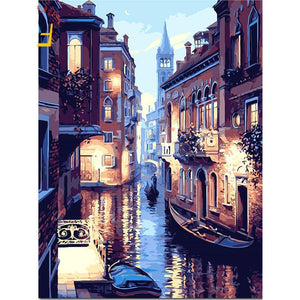 venice night adult diy paint by numbers kit