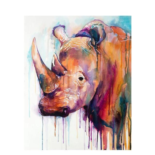 Multicolor Rhino (2 picture variations)