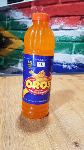 Brookes Oros Orange Squash 1l
