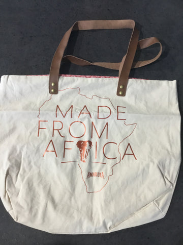"Amarula Tote Bag ""Made From Africa"""