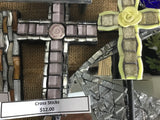 Mosaic Cross and Heart Sticks X 4 $10