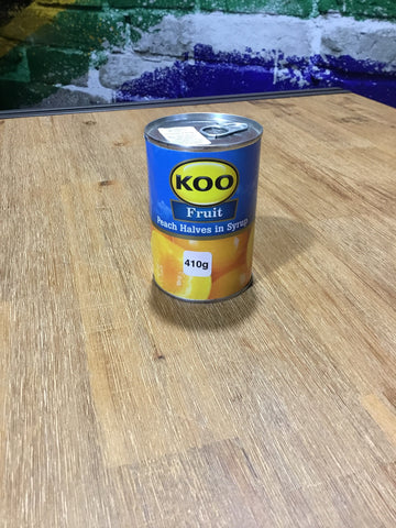 Koo Peach Halves in syrup 410g can