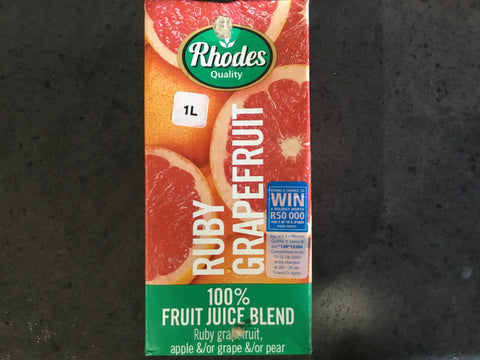 Rhodes Fruit Juice Ruby Grapefruit 1L