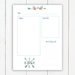 Blog Post Planner | Printable Happy Planner Inserts | Printable Blog Planner | Blog Printable | Work at Home