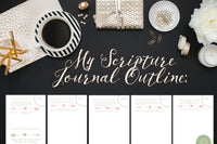 For 9 Disc (Medium) Happy Planner: Bible Study Journal | Printable Happy Planner Inserts | Printable Bible Study Worksheets | Scripture Memorization | Inductive Bible Study